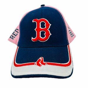 BOSTON RED SOCKS BASEBALL CAP ONE SIZE Pink